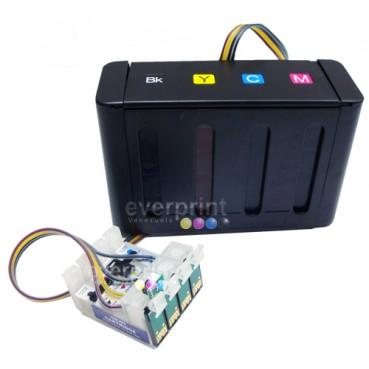 Sistema de Tinta Continua para Impresoras Epson modelos TX130 TX120 T22 Cartucho o Consumible N° 132 (4 colores)